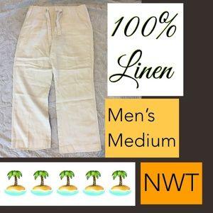 🌿NWT Medium 100% Linen Pants